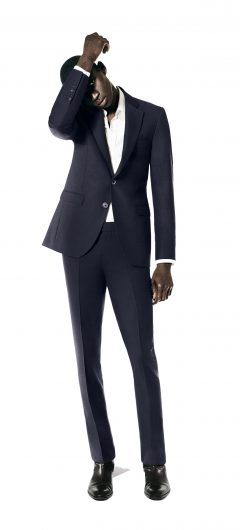 Victor navy mohair suit